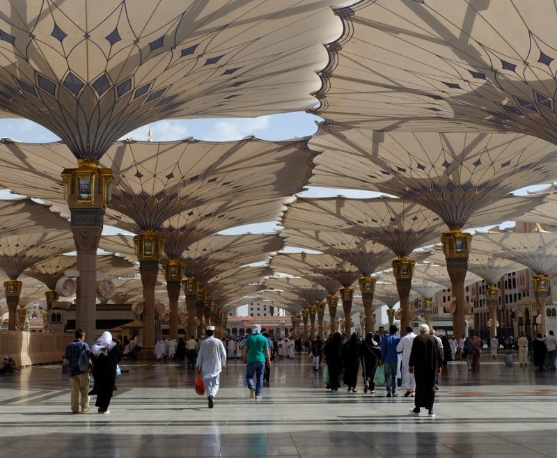 Payung Kanopi Masjid Nabawi, sumber : detikTravel